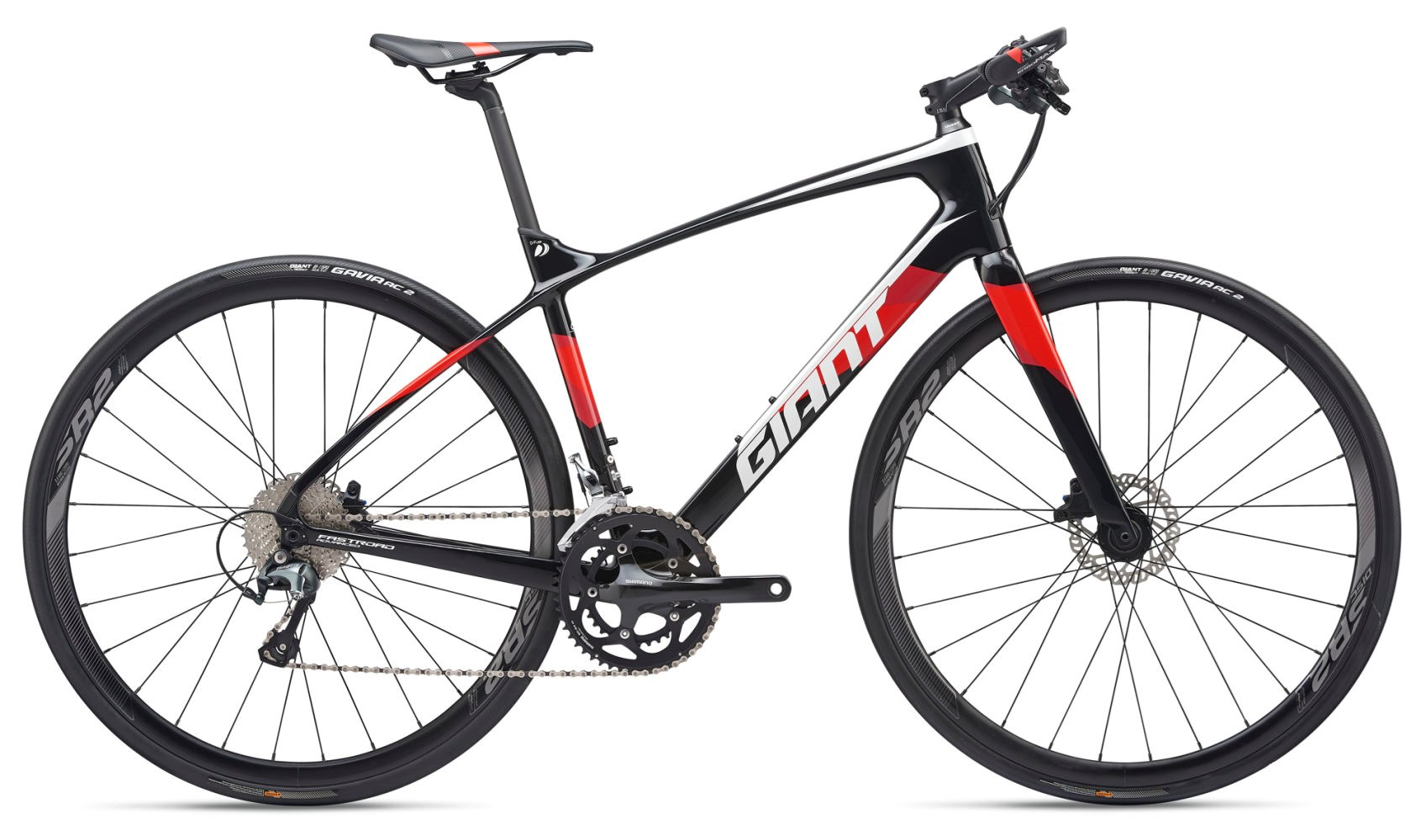 2019 Giant FastRoad Advanced 2 Carbon Mens Flat bar Road